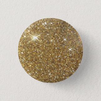 Luxury Gold Glitter - Printed Image Pinback Button