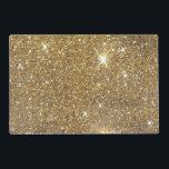 """Luxury Gold Glitter - Printed Image Placemat<br><div class=""""desc"""">This is a vaguely bokeh method printed look of scintillating,  glitzy golden glitter. Straight forward,  yet quite great! Don&#39;t pass up on the potential to add in a feel of refinement and even elegance into your lifestyle!   Note: Glitter is printed.</div>"""