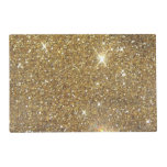 Luxury Gold Glitter - Printed Image Placemat<br><div class='desc'>This is a vaguely bokeh method printed look of scintillating,  glitzy golden glitter. Straight forward,  yet quite great! Don&#39;t pass up on the potential to add in a feel of refinement and even elegance into your lifestyle!