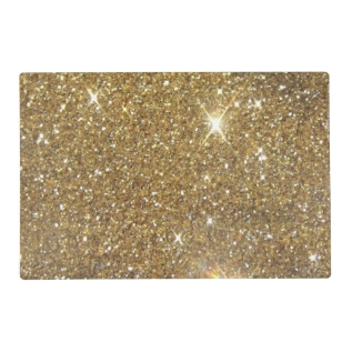 Luxury Gold Glitter - Printed Image Placemat at Zazzle