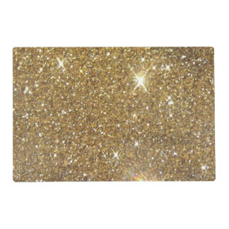 Luxury Gold Glitter - Printed Image Placemat