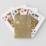 "Luxury Gold Glitter - Printed Image Playing Cards<br><div class=""desc"">A somewhat bokeh style printed out look of shimmering,  glitzy gold metalic glitter. Uncomplicated,  though quite fun! Don&#39;t pass up on the opportunity to provide a touch of refinement and even elegance in your lifestyle!