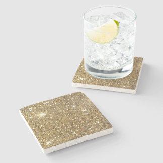 Luxury Gold Glitter - Printed Image Stone Coaster