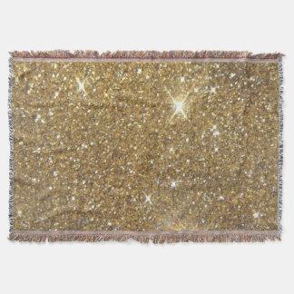 Luxury Gold Glitter - Printed Image Throw Blanket