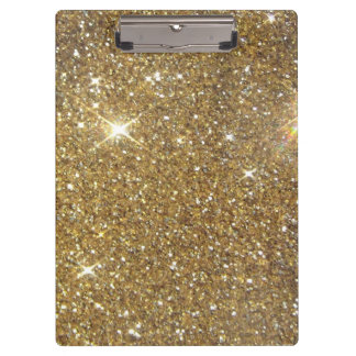 Luxury Gold Glitter Sparkle Clipboards