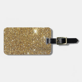 Luxury Gold Glitter Sparkle Tags For Luggage