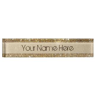 Luxury Gold Glitter Sparkle Desk Name Plates