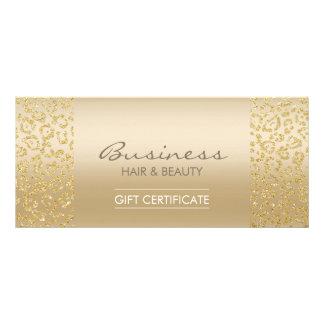 Luxury Gold Leopard Print Salon Gift Certificates