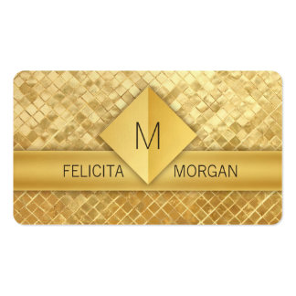Luxury gold monogram business card templates