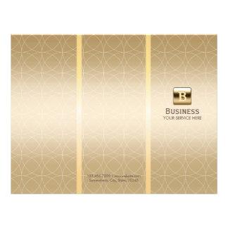 Luxury Gold Monogram Tri-Fold Modern Brochures
