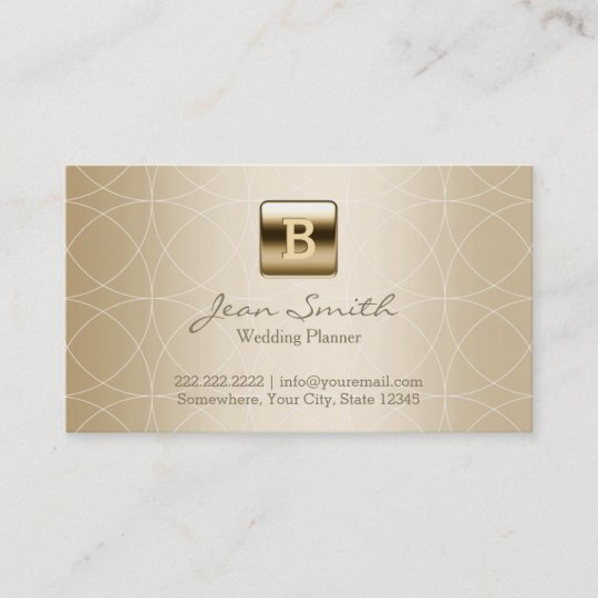 luxury gold monogram wedding planner business card - Wedding Planner Business Cards