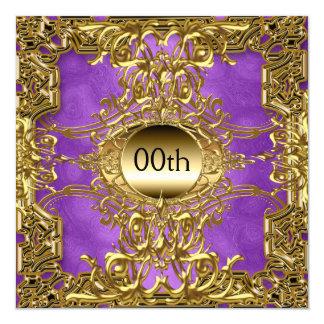 Luxury Gold Purple Any Birthday Party Invitation