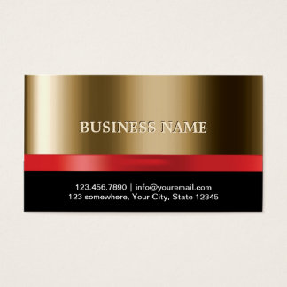 Luxury Gold Red Ribbon Business Card