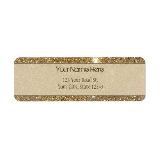 Luxury Gold Sparkling Glitter Return Address Label
