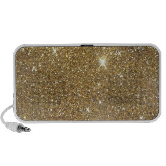 Luxury Gold Sparkling Glitter Notebook Speakers