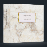 """Luxury gold &amp; white marble stone personal binder<br><div class=""""desc"""">Beautiful stylish binder for your most beautiful wedding photos,  delicious recipes,  or...  Luxury gold and white marble design. Personalized binder,  you can add your own name and text.</div>"""