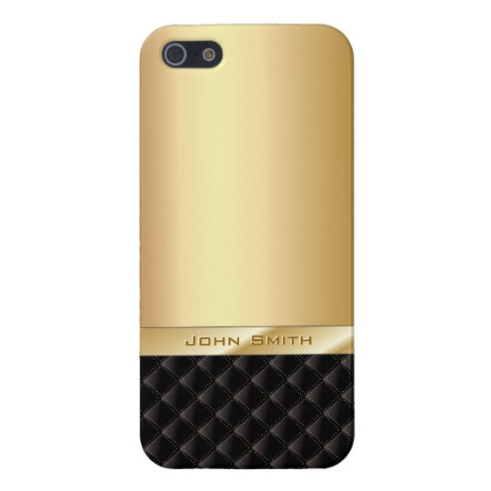 Luxury Gold with Custom Name iPhone 5 Case