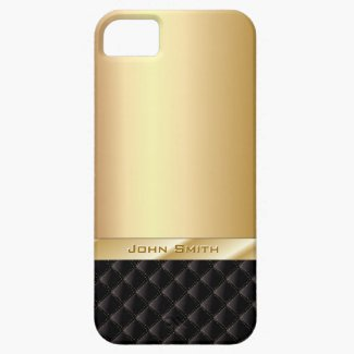 Luxury Gold with Your Name iPhone 5 Case