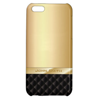 Luxury Gold with Custom Name iPhone 5C Case