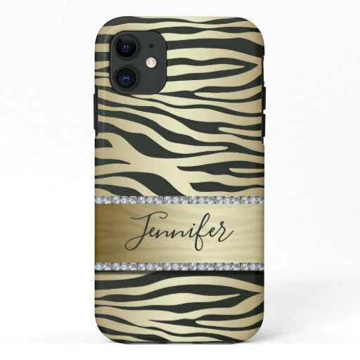 Luxury Gold Zebra iPhone 11 Case