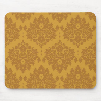 Luxury Golden Damask Mouse Pad