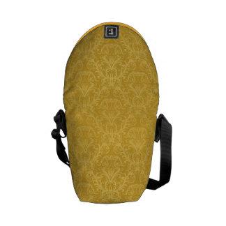Luxury Golden Floral Wallpaper Courier Bag