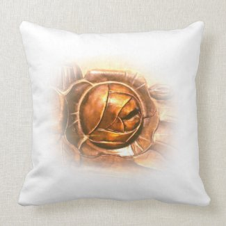 Luxury Golden Rose Throw Pillow