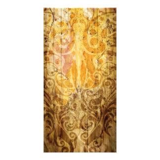 LUXURY GOLDEN SCROLL PATTERN VINTAGE SWIRLS DIGITA CARD