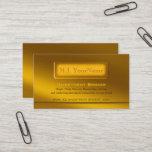Luxury Golden Theme - Investment Broker Business Card