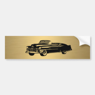 luxury golden  vintage classy old car personalized bumper sticker