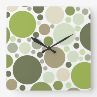 Luxury Green Color Circle Clock