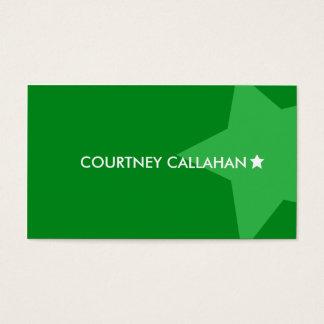 Luxury green star standard business cards