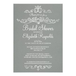 Luxury Grey Bridal Shower Invitations Invitation
