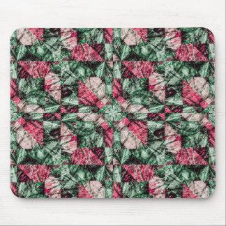 Luxury Grunge Digital Pattern Mouse Pad