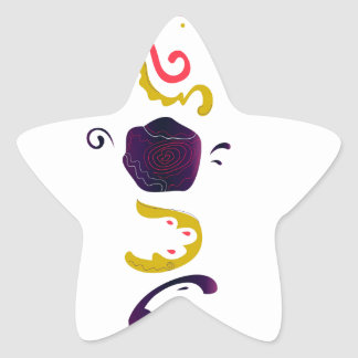Luxury handdrawn Embroidered Folk edition Star Sticker