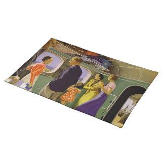 Luxury in the New Empire Flying Boats Cloth Placemat