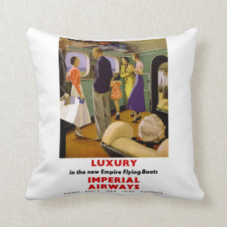 Luxury in the New Empire Flying Boats Throw Pillow