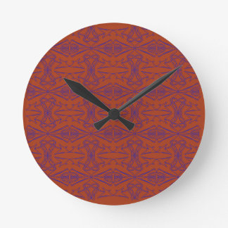 Luxury indie ethnic Ornaments Round Clock