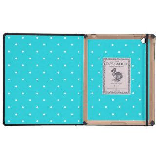Luxury iPad Case - Aqua Polka Dot Pattern
