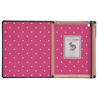 Luxury iPad Case - Red Polka Dot Pattern