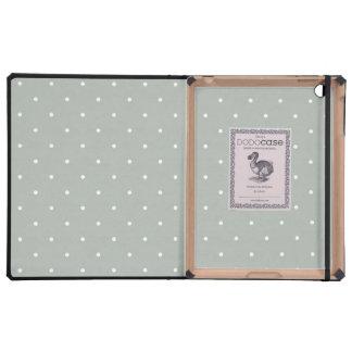 Luxury iPad Case - Silver Polka Dot Pattern
