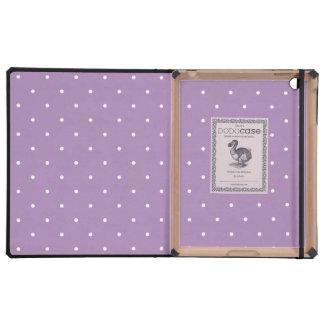 Luxury iPad Case - Violet Polka Dot Pattern