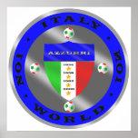 Luxury Italian Soccer world champions logo Poster
