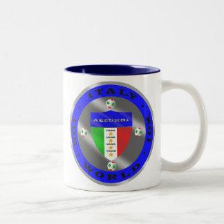 Luxury Italian Soccer world champions logo Two-Tone Coffee Mug