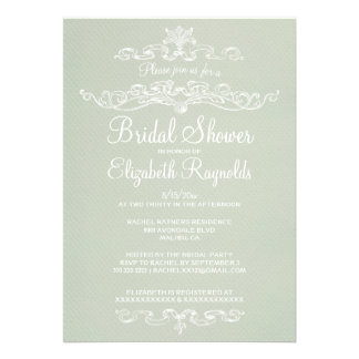 Luxury Ivory Bridal Shower Invitations Announcement