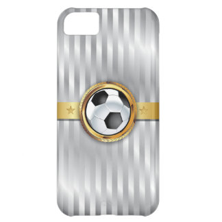 Luxury King of Soccer Silver Stripes iPhone 5 Case