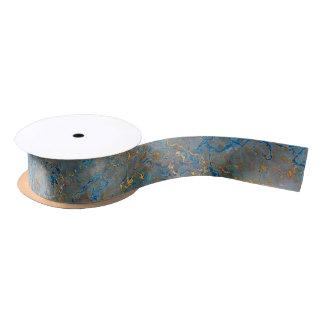 Luxury Lapis Lazuli Marble Satin Ribbon