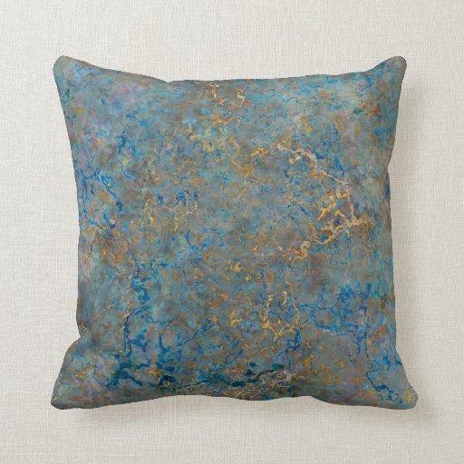 Luxury Lapis Lazuli Marble Throw Pillow Zazzle