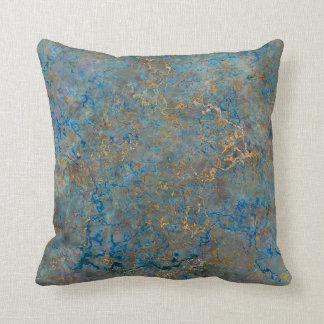 Luxury Lapis Lazuli Marble Throw Pillow