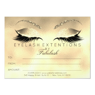 Luxury Lashes Extension Makeup Certificate Gift Card